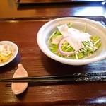 和伊んや - 海老と野菜のかき揚げセット「サラダ」