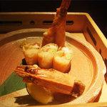 点 - アボガドと車海老のとろーりチーズ春巻き