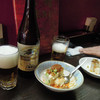 菜香 - 料理写真:中華風冷奴とビール