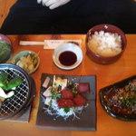きなせ亭 - 鯨漬け焼き定食