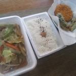 たなちゃん弁当 - 料理写真:肉入り野菜弁当と単品物