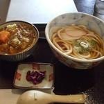 うどん工房 すぴか - うどんとカレー丼セット(550円)