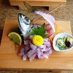 うしお - 活鯵たたき定食¥2100