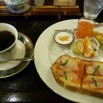 珈琲の観世 - 料理写真:2012.2.19 モーニング全体(これにサラダが付きます)