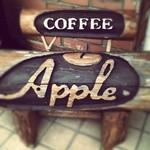 アップル - 入り口看板