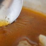 スープカレー トムトムキキル - 豚の脂で膜ができてた