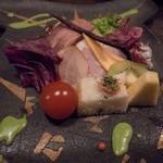 翡翠之庄 - 洋皿 自家製ハム彩々