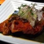 結 - 国産鶏の竜田揚げ〜香味葱ソース、750円