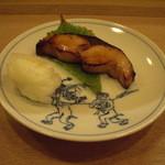 日本料理店 さとき - サゴシの柚庵焼に百合根を添えて