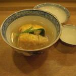 日本料理店 さとき - 海老芋の素揚げと芽かぶら、飛龍頭。