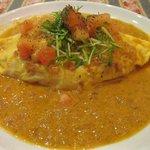 リン ロウ - オムライス・REN-ROU風特製カレーソース(スープ・サラダ付)