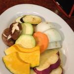 焼肉 白雲台 - 焼き野菜追加