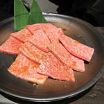 焼肉 蔵元 - 佐賀牛特上カルビ・・・私はこのお肉一番美味しく感じました。