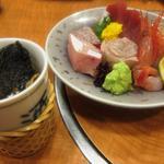 すし寛 - お造り盛り合わせ & ヒレ酒