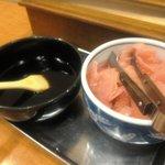 すし寛 - お寿司の醤油は刷毛で塗る