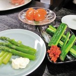 11945752 - アスパラ+もろきゅう+トマト
