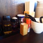 麺や 小五郎 - カウンター卓上
