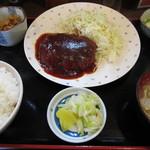 かあちゃん - ハンバーグ定食