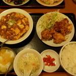 同源 - マーボー豆腐定食 980円