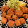 紀の川 - 料理写真:揚物三種(ハムカツ・メンチ・一口カツ)