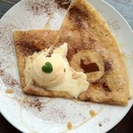 カフェ・ドゥ・リエーヴル うさぎ館 - 料理写真:ラムレーズン クレープ