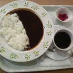 CAFE NORTE Sapporo - かみふらのポークビーンズ黒カリー 単品450円 (コーヒーセットで500円)