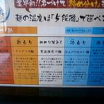 三ツ矢堂製麺 - 麺の温度が選べる