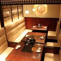 テーブル席の完全個室ございます。
