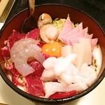 もりしん - 料理写真:お好み焼き デラックス (牛、ホタテ、いか、えび、ハム、もも)