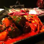 カルビちゃん - キムチ盛りと、お肉三種盛り