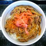 なか卯 - 和風牛丼並のアップ