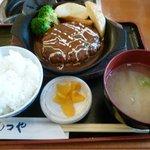 もつや - 若狭牛ハンバーグ定食  限定20食  ¥500