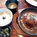 遊shin - 料理写真:ランチ980円 ハンバ-グ