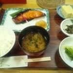 京粕漬 魚久  - 鮭の粕漬け定食