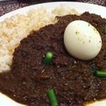 音匙 - キーマカレー+半熟卵