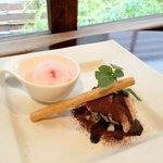 築地鉄板焼 Kurosawa - 桜のシャーベット、牛蒡のティラミス