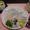 話食こだま - 料理写真:茶碗蒸しとフグ刺身