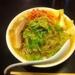 きんしゃい亭 - 野菜ラーメン (650円) + W (120円)