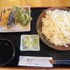 小高 - 料理写真:ざるうどん(綿油で揚げた、天ぷら付き)