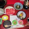 いつくし園 - 料理写真:1泊目の夕食煮物と茶碗蒸しは後で出てきました。