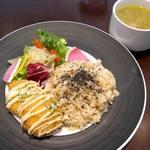 シーバイエフ クラス ファンケル - 10食限定 ベジコロッケの発芽玄米プレート ¥900