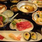 活魚料理 花惣 - 料理写真:寿司牛しゃぶ御膳
