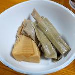 柳瀬温泉 - イタドリと新タケノコの煮物