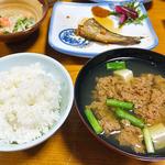 柳瀬温泉 - ツガニ汁 & ご飯
