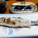 柳瀬温泉 - 朝食(アユの塩焼き)
