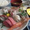 カネシチ水産 - 料理写真:刺身定食1575円 ランチタイムサービス有り  季節、水揚げにより種類が変わります。