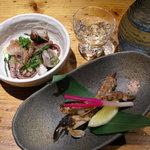 たんと - 煮物(タコ)と焼物(シャコ)