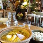 ジーカフェ - 料理写真:土鍋Gカレースープ
