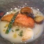 チンギアーレ - コースの魚料理