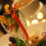 おず smoked和taste - スモークバーニャカウダ~彩り野菜とバケット添え~